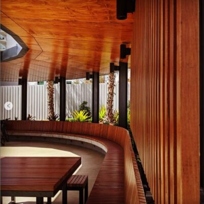 Outdoor timber supplies for commercial space in Melbourne