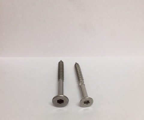 Stainless Steel bugle head batten screw and 14g Torx 30 Drive decking screw 1