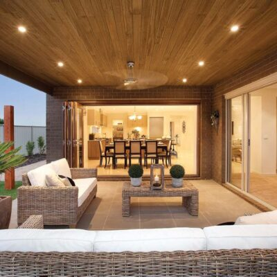 Outdoor entertaining area in Melbourne - Timber supplies by Mornington Timber & Decking